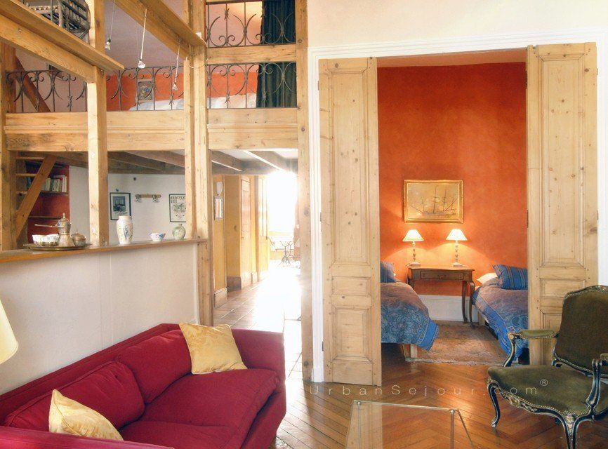 location appartement meubl avec 2 chambres 1 couchage en mezzanine lyon 7 rh ne gambetta. Black Bedroom Furniture Sets. Home Design Ideas