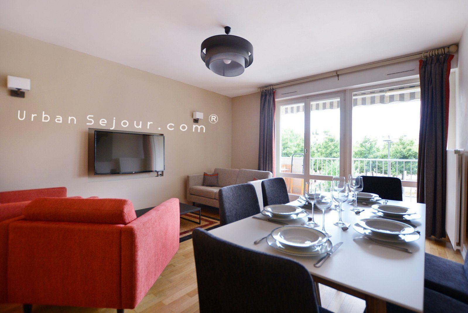 Location appartement meubl avec 2 chambres bureau ou for Meuble bureau lyon